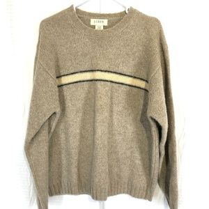 J CREW 100% Wool Pull Over Long Sleeve Sweater ~ L